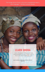 fsi shona basic course, digital edition