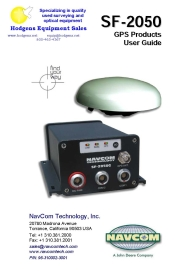 Navcom SF-2050 GPS Products User Guide | Documents and Forms | Manuals