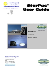 Navcom StarPac User Guide | Documents and Forms | Manuals