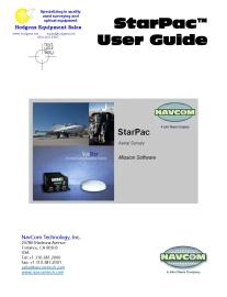 navcom starpac user guide