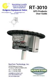 navcom rt 3010 user guide