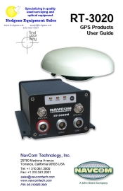 NavCom RT 3020 User Guide | Documents and Forms | Manuals