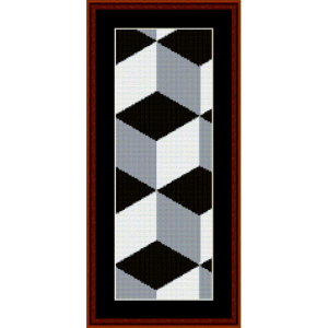 fractal 308 bookmark cross stitch pattern by cross stitch collectibles