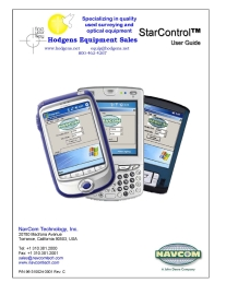 NavCom StarContrl User Guide   Documents and Forms   Manuals
