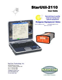 NavCom StarUtil 2110 User Guide   Documents and Forms   Manuals