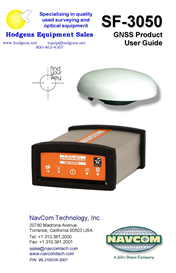 navcom sf-3050 gnss product user guide