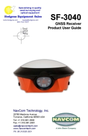 navcom sf-3040 gnss receiver product user guide