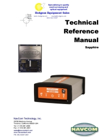 NavCom Sapphire Technical Reference Manual | Documents and Forms | Manuals