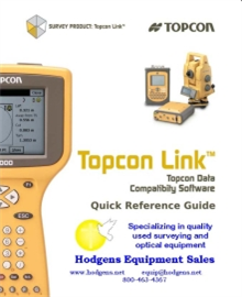 Topcon Link Quick Reference Guide | Documents and Forms | Manuals