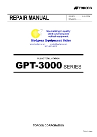 topcon gpt 3000 total station repair manual
