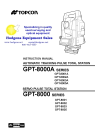 topcon gpt-8000/8000a series instruction manual
