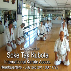 Soke Tak Kubota Karate Class DOWNLOAD ID:20110702 | Movies and Videos | Special Interest