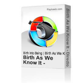 birth as we know it - directors commentary - czech - 74min.