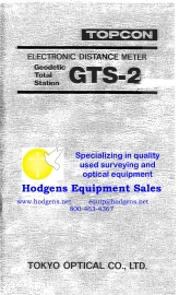 topcon gts-2 user manual