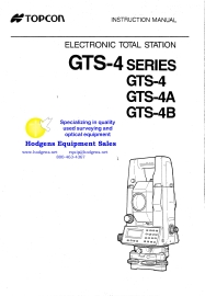 topcon gts-4 series instruction manual