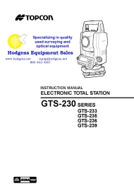 topcon gts-230 series instruction manual