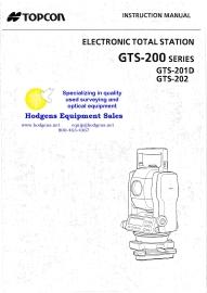 topcon gts-200 series instruction manual