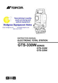 topcon gts-330w total station instruction manual
