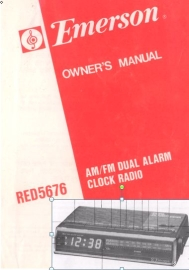 emerson red5676 am/fm dual alarm clock radio owner manual