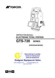 topcon gts-720 series instruction manual [program mode]