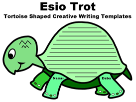 esio trot tortoise shaped creative writing templates