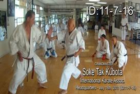 Soke Tak Kubota Karate Class DOWNLOAD ID: 20110716 | Movies and Videos | Special Interest