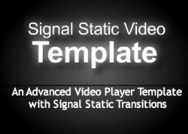Signal Static Video Template | Software | Design Templates