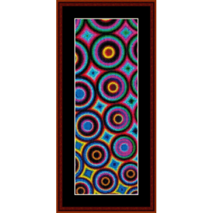 fractal 312 bookmark cross stitch pattern by cross stitch collectibles