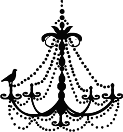 Bird on chandelier - machine embroidery file | Crafting | Sewing | Gifts