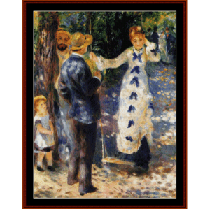 the swing - renoir - cross stitch pattern by cross stitch collectibles
