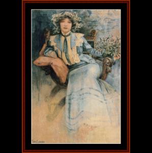 Mme. Mucha cross stitch pattern by Cross Stitch Collectibles | Crafting | Cross-Stitch | Wall Hangings