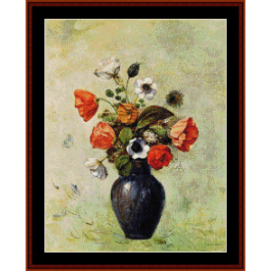 Anemones and Poppies - Redon cross stitch pattern by Cross Stitch Collectibles | Crafting | Cross-Stitch | Other