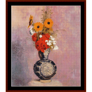 bouquet of flowers ii - redon cross stitch pattern by cross stitch collectibles