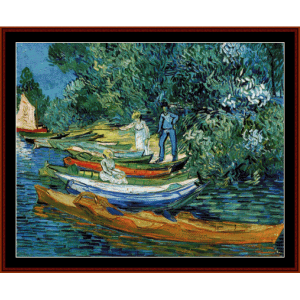 rowing boats - van gogh cross stitch pattern by cross stitch collectibles