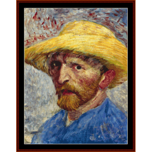 self portrait (van gogh) cross stitch pattern by cross stitch collectibles