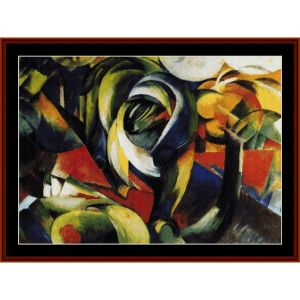 Mandril - Franz Marc cross stitch pattern by Cross Stitch Collectibles | Crafting | Cross-Stitch | Wall Hangings