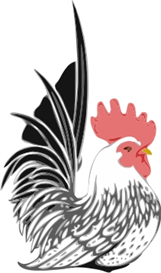 rooster sitting - machine embroidery file