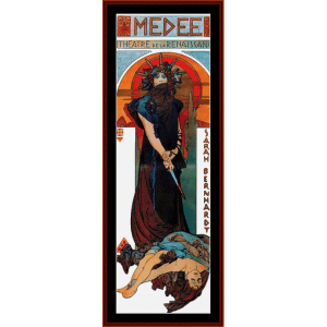 medee - mucha cross stitch pattern by cross stitch collectibles