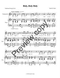 Holy, Holy, Holy (full score and congregational part) | Music | International