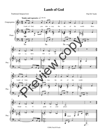 lamb of god (full score and congregational part)