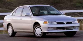 2000 mitsubishi mirage sedan mvma