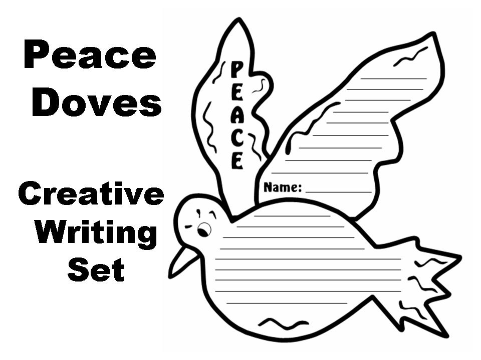 Peace Doves Creative Writing Templates | Documents and Forms | Other ...