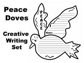 Peace Doves Creative Writing Templates | Documents and Forms | Other Forms