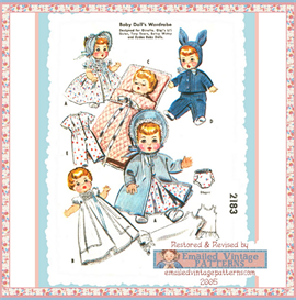 4-5 Baby Doll Layette Vintage Pattern circa 1950 | Crafting | Sewing | Other