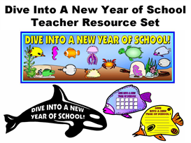 dive into a new year of school teacher resource set