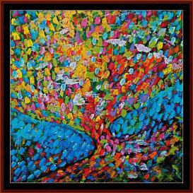 mosaic tree - scharf cross stitch pattern by cross stitch collectibles