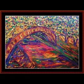 seine river - scharf cross stitch pattern by cross stitch collectibles