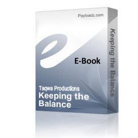 Keeping the Balance | Audio Books | Religion and Spirituality