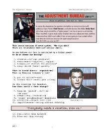 ADJUSTMENT BUREAU, Whole-Movie English (ESL) Lesson | eBooks | Education
