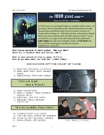 THE IRON GIANT, Whole-Movie English (ESL) Lesson | eBooks | Education